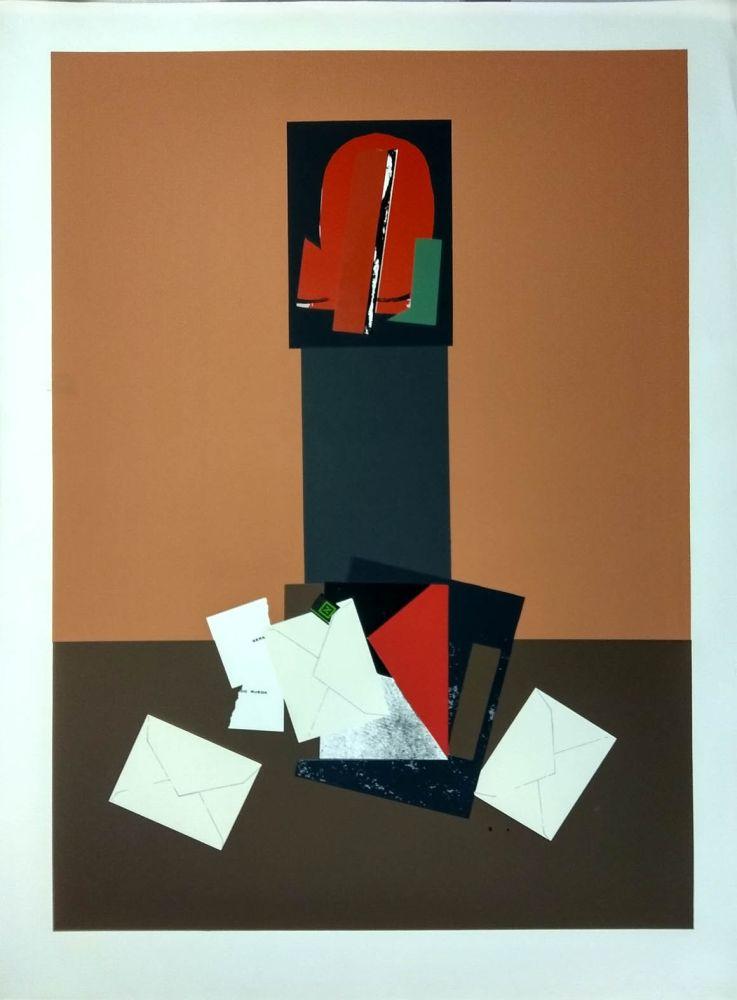 Screenprint Gordillo - Collage con sobres