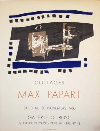 Lithograph Papart - Collages Galerie O  Bosc
