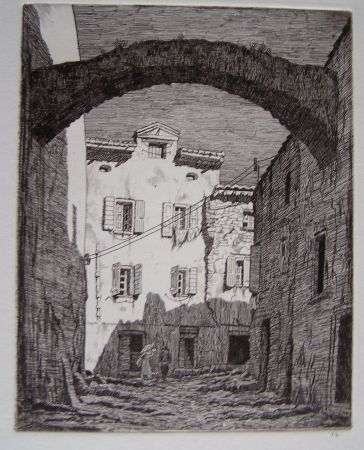 Etching Strang - Collioure