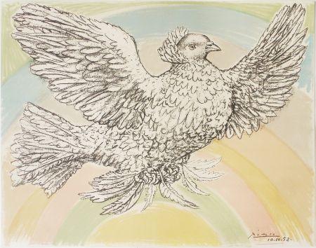 Lithograph Picasso - Colombe à l'Arc en Ciel