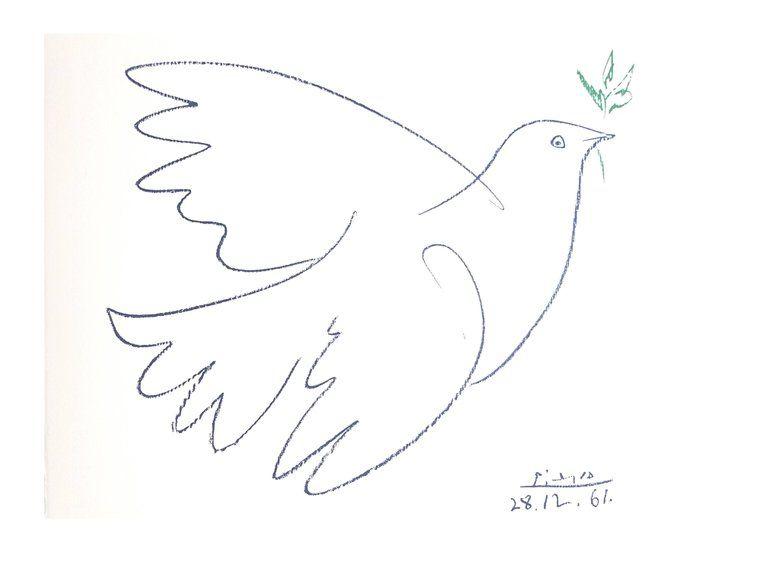 Lithograph Picasso (After) - Colombe de la Paix