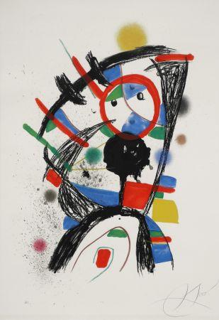 Lithograph Miró - Colombine à la fenêtre