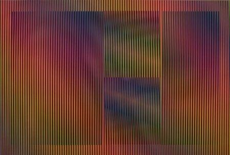 Lithograph Cruz-Diez - Color aditivo Cantarrana 2