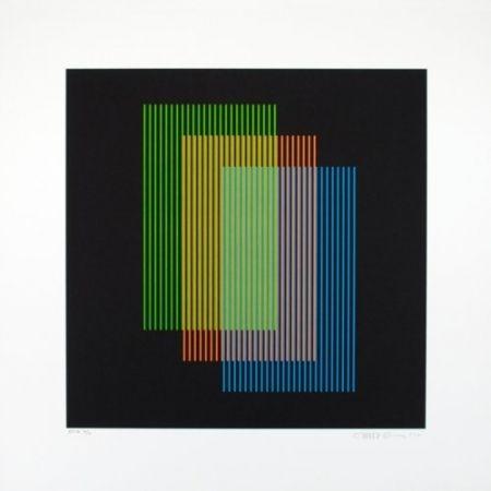 Lithograph Cruz-Diez - Color aditivo Ramblas 1963-2011