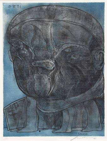 Lithograph Cuevas - Coloso from the Olympic Memories Portfolio