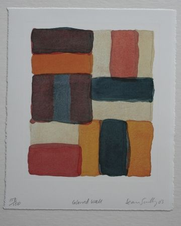 Lithograph Scully - Coloured Wall