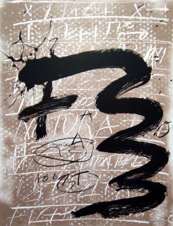 Lithograph Tàpies - Columbus