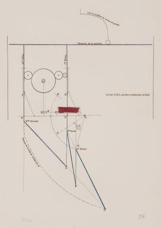 Engraving Duchamp - Combat de boxe