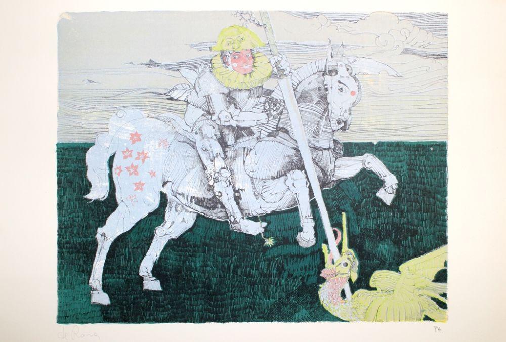 Lithograph De Rosa - Combattente