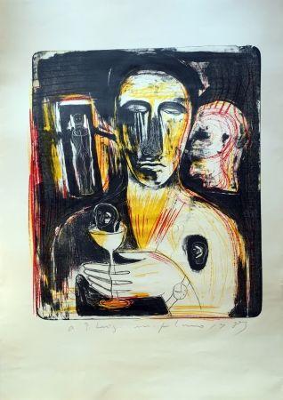 Lithograph Paladino - Come In Uno Specchio