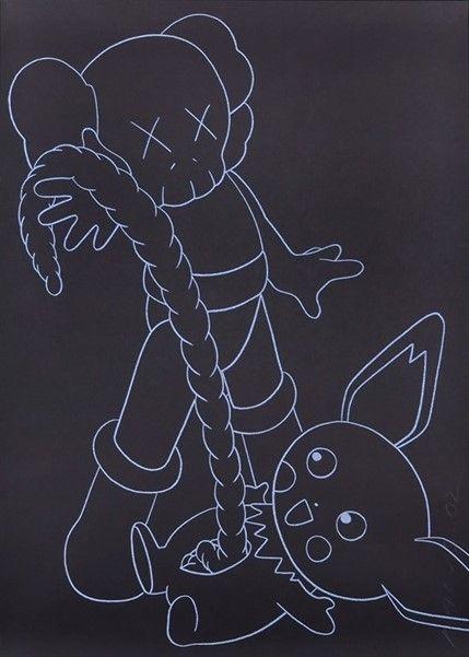 Screenprint Kaws - Companion vs. Pikachu