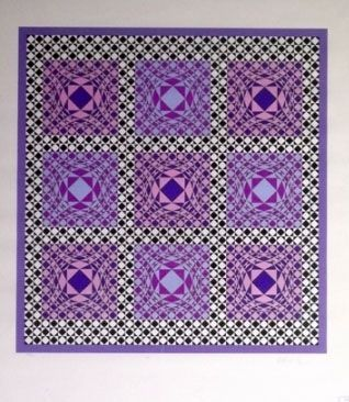 Screenprint Vasarely - Complication