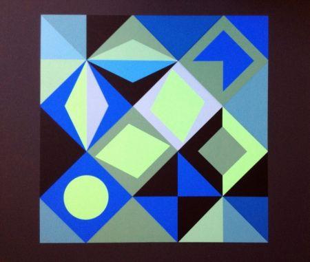 Lithograph Vasarely - COMPOSICION