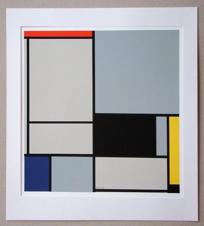 Screenprint Mondrian - Compositie - 1921