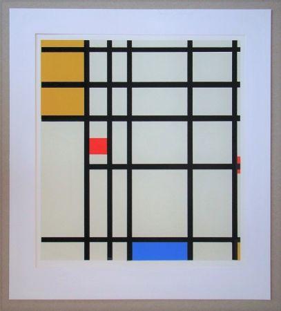 Screenprint Mondrian - Compositie met rood, geel en blauw - 1936/43