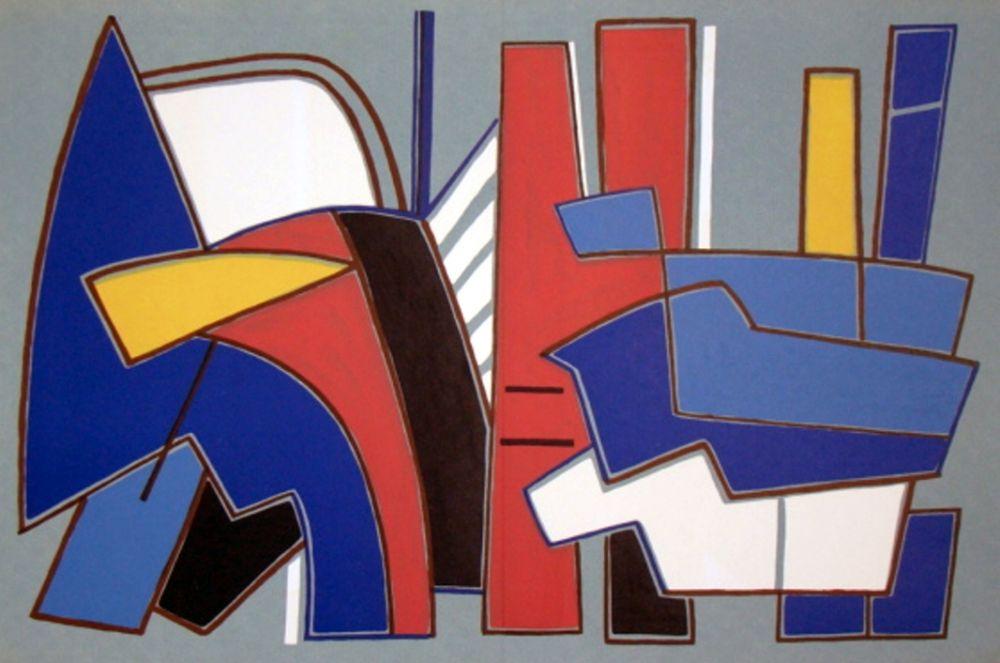 Lithograph Magnelli - '' Composition ''
