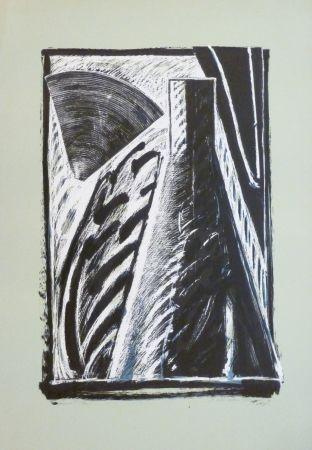 Lithograph Titus Carmel - Composition