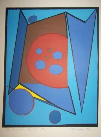 Lithograph Mortensen - Composition