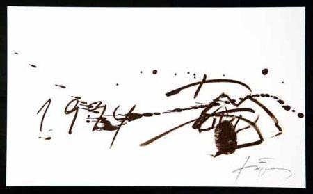 Lithograph Tàpies - Composition