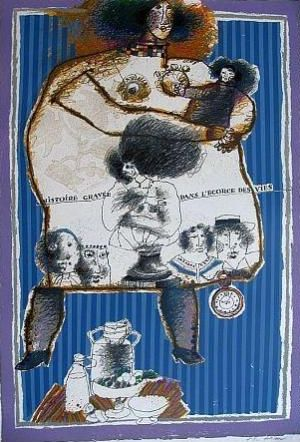 Lithograph Tobiasse - Composition