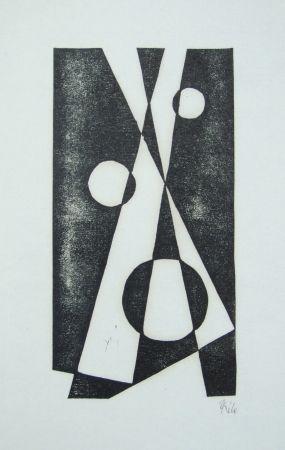 Woodcut Maatsch - Composition