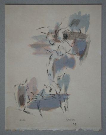 Lithograph Bazaine - Composition