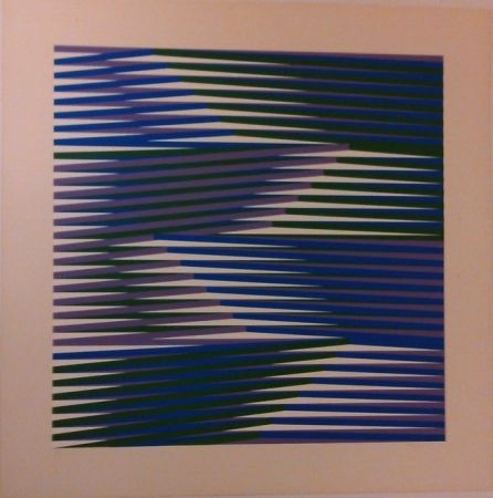 Screenprint Cruz-Diez - Composition