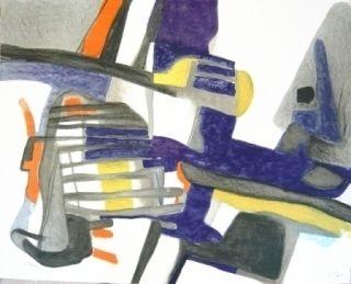 Lithograph Esteve - Composition