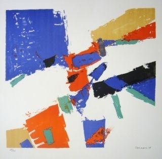 Lithograph Germain - Composition