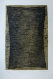 Etching And Aquatint Bergmann - Composition