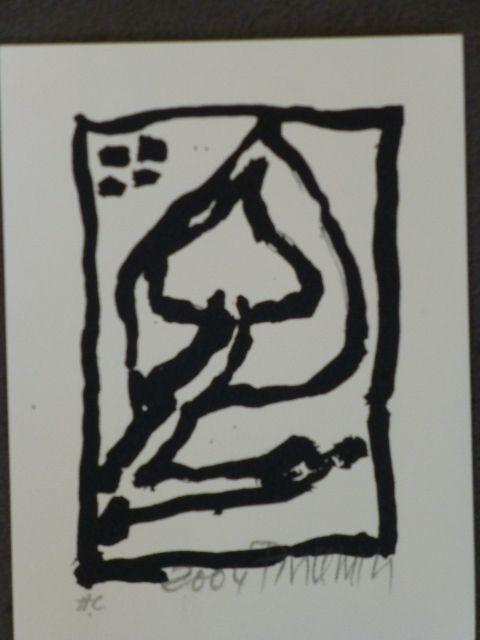 Lithograph Pincemin - Composition