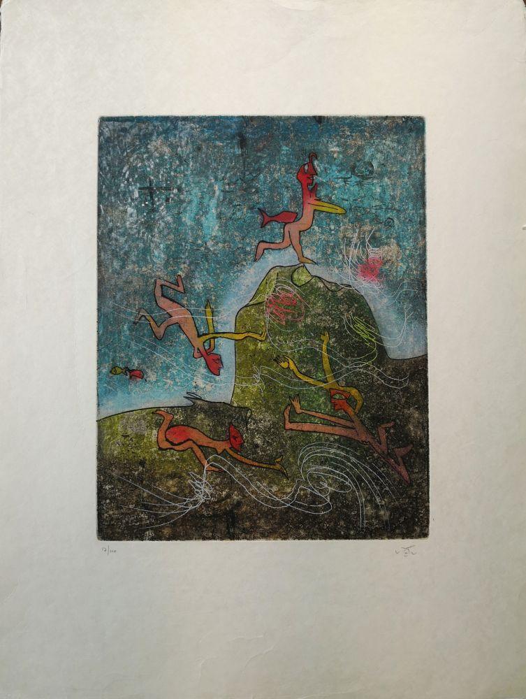 Engraving Matta - Composition