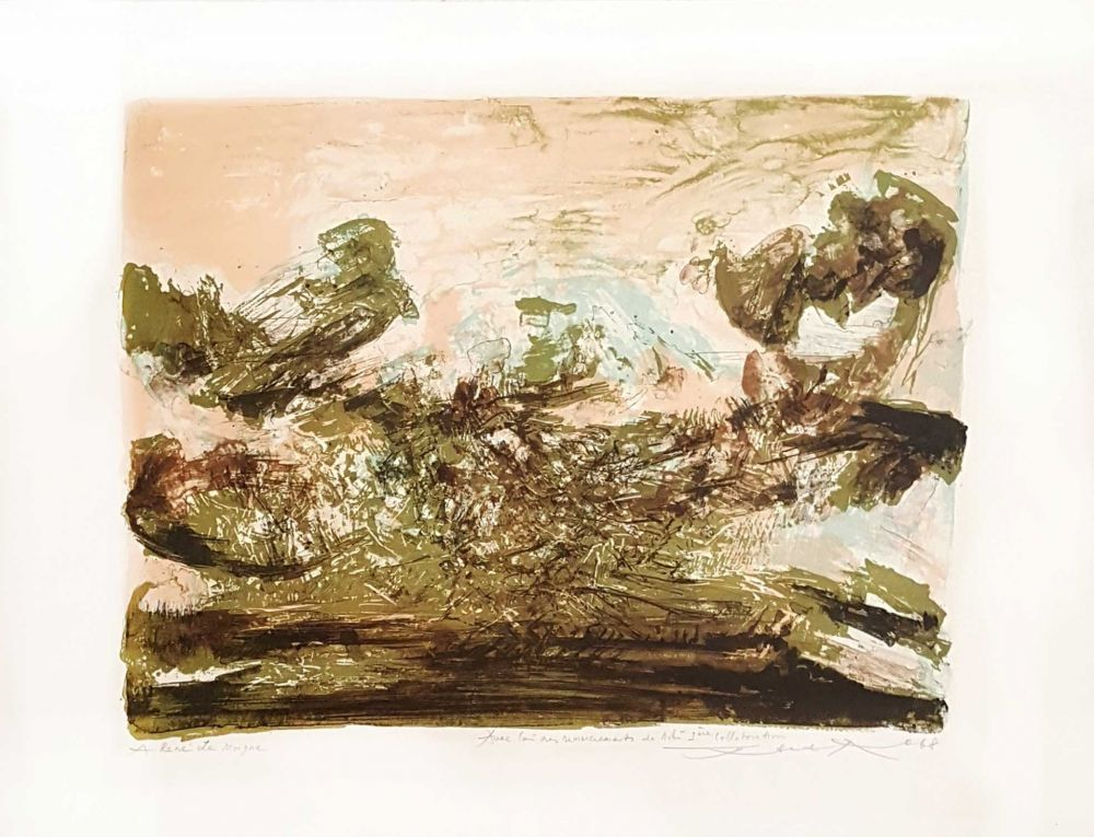 Lithograph Zao - Composition