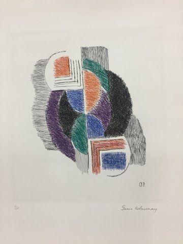 Engraving Delaunay - Composition