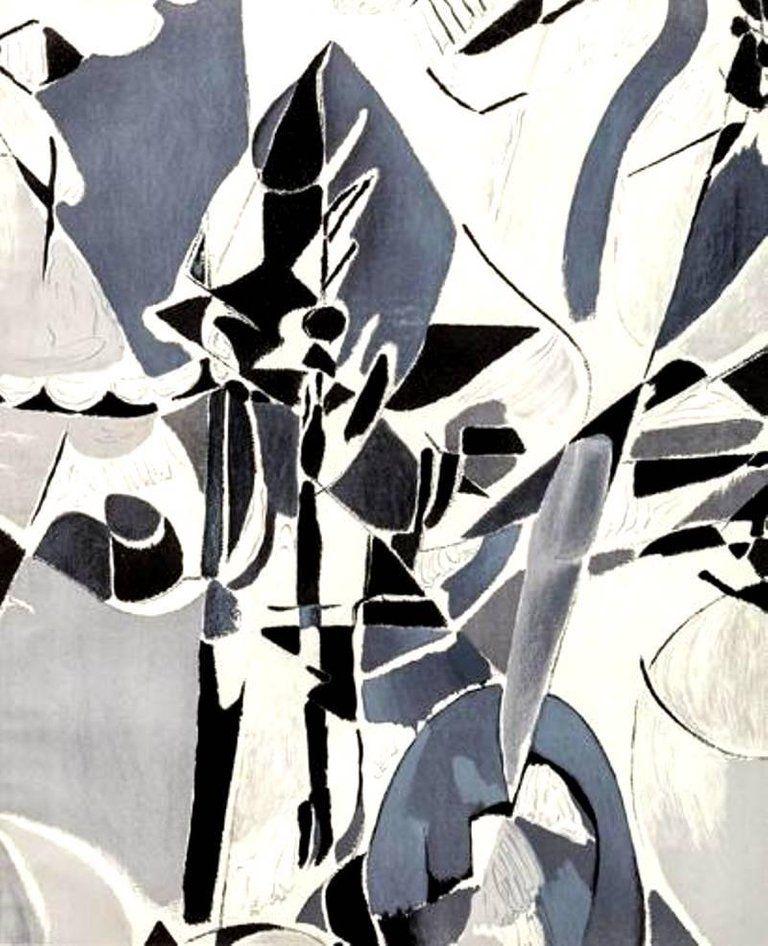 Lithograph Lanskoy - Composition