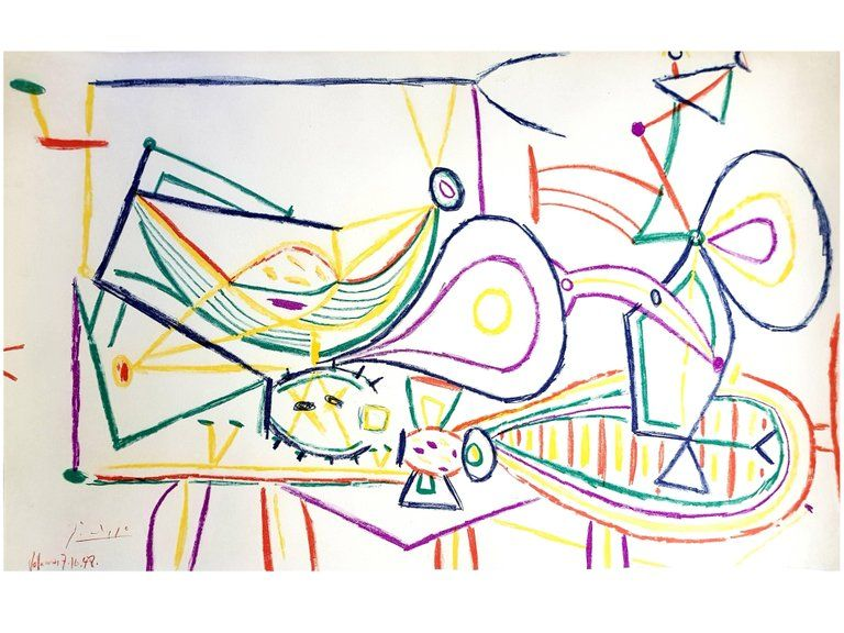 Lithograph Picasso (After) - Composition