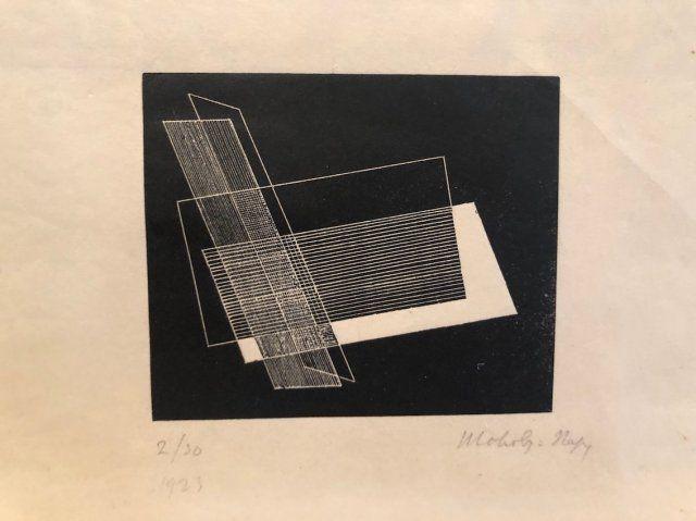 Linocut László - Composition