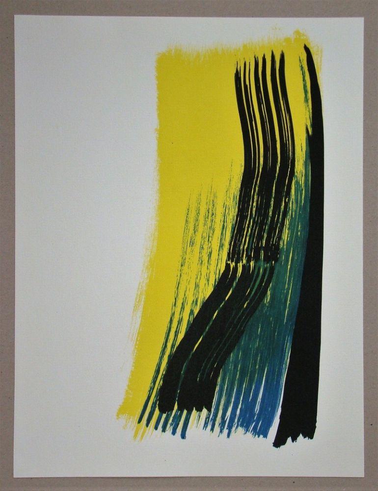 Lithograph Hartung - Composition