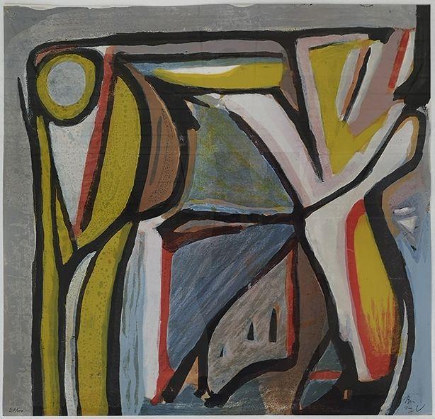 Lithograph Van Velde - Composition