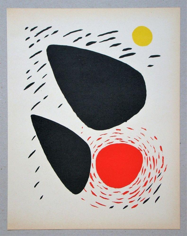 Lithograph Calder - Composition