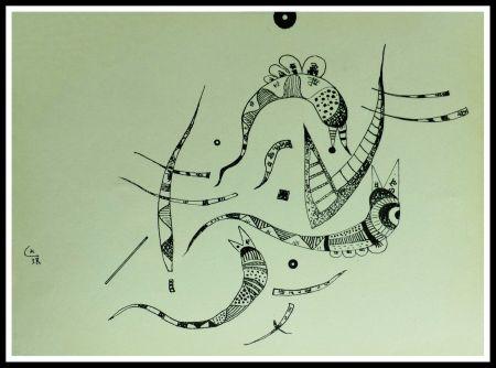 Lithograph Kandinsky - COMPOSITION