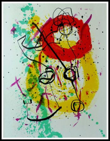 Lithograph Miró - COMPOSITION