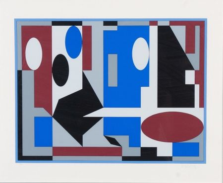 Lithograph Vasarely - Composition