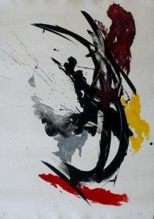 Lithograph Miotte - Composition