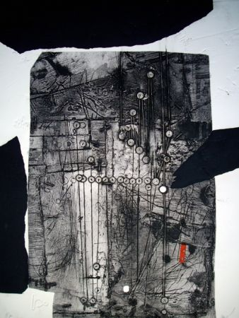 Etching And Aquatint Clavé - Composition