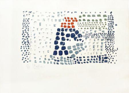 Lithograph De Stael - Composition