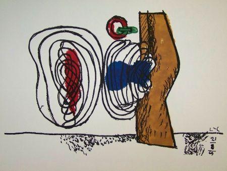 Lithograph Le Corbusier - Composition