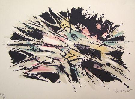 Lithograph Manessier - Composition