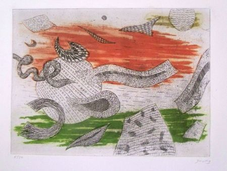 Etching And Aquatint Goetz - Composition