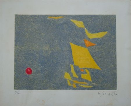 Etching And Aquatint Singier - Composition